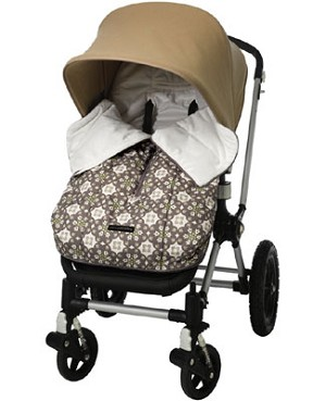 Z: Petunia Pickle Bottom *Glazed* Stroller Bunting Bag - Misted Marseille