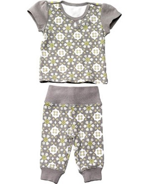 Z: Petunia Pickle Bottom Lounging Legging Set - Misted Marseille