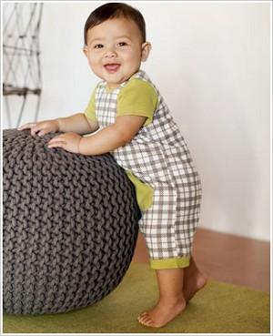 Z: Petunia Pickle Bottom Little Rebel Romper - Playful Plaid
