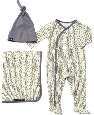 Z: Petunia Pickle Bottom Snuggle Set - BOYS Raindrop Shapes