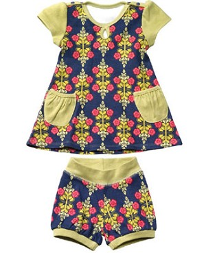 Z: Petunia Pickle Bottom Delicate Dress Set - Siesta in Sevilla