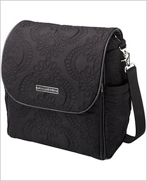 Z: Petunia Pickle Bottom *Embossed* Boxy Backpack - Central Park North Stop *Black*