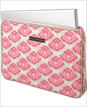 Petunia Pickle Bottom Carried Away Laptop Case - Flowering Firenze