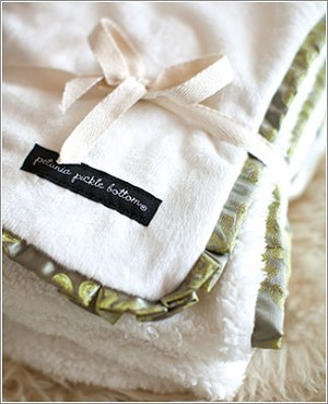 Petunia Pickle Bottom Receiving Blanket - Moonstone Roll