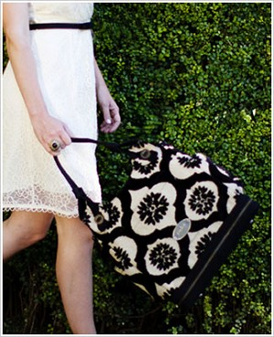 Z: Petunia Pickle Bottom CAKE Society Satchel - Black Forest