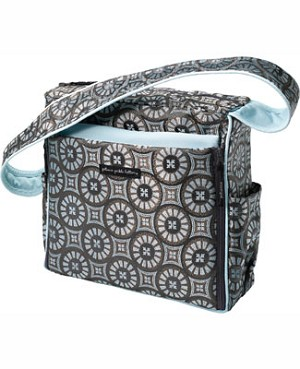 Z: Petunia Pickle Bottom *Brocade* Shoulder Diaper Bag - Cobalt Roll