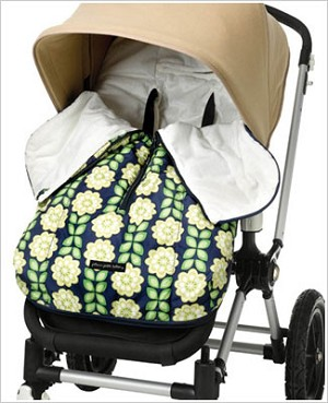 Z: Petunia Pickle Bottom *Glazed* Stroller Bunting Bag - Passport to Prague