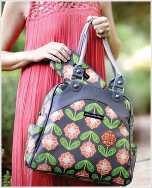 Z: Petunia Pickle Bottom *Glazed* Sashay Satchel - Santiago Sunset