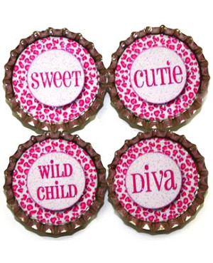 Purple Mountain New Bottle Cap Magnets - Cheetah Sayings