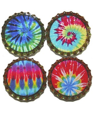 Purple Mountain New Bottle Cap Magnets - Tie Dye