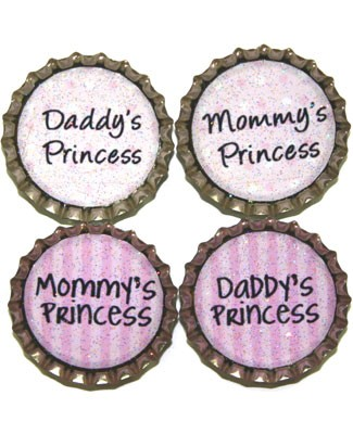 Purple Mountain New Bottle Cap Magnets - Princess