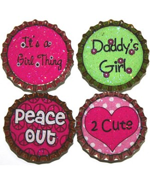 Purple Mountain New Bottle Cap Magnets - Tween Sayings