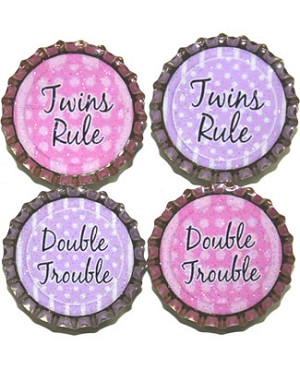 Purple Mountain New Bottle Cap Magnets - Twins