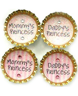 Purple Mountain Bottle Cap Magnet - Princess On Pink