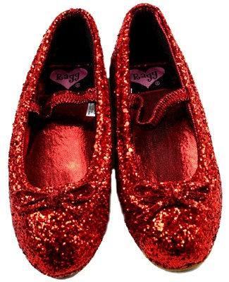 : Ragg Cameron - Red Sparkle Ballet Slippers