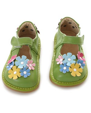 II: Rainbow Steps Green Flower Petal Shoe *SQUEAKS*