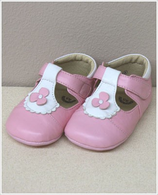 II: Rainbow Steps LIGHT PINK Baby Flower T-Strap Mary Janes