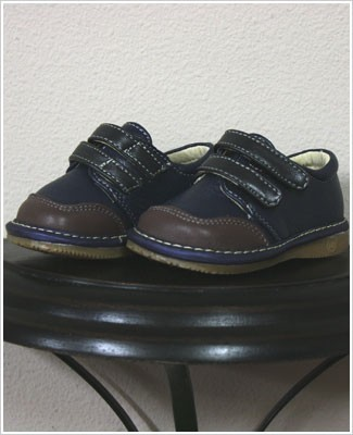 II: Rainbow Steps DARK BLUE Boys Velcro Leather Shoe