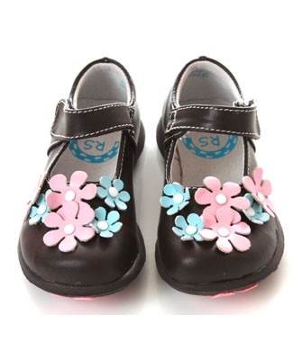 II: Rainbow Steps Brown Leather Flower Shoe