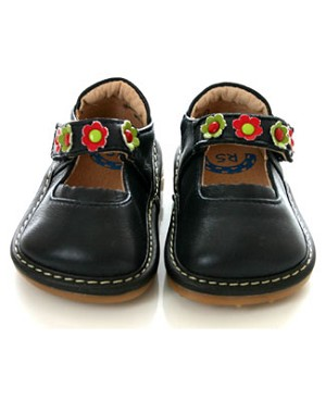 II: Rainbow Steps NAVY Leather Shoes *SQUEAK*