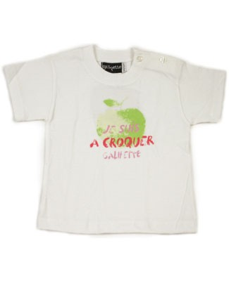 : GaliPette White S/S Apple Tee