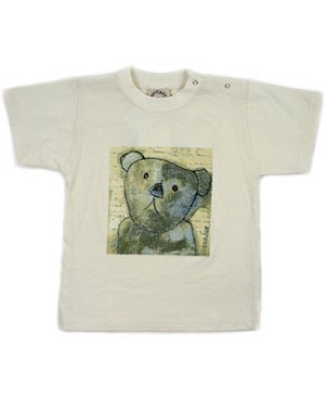 R: Petit Boy S/S Cream Bear Tee