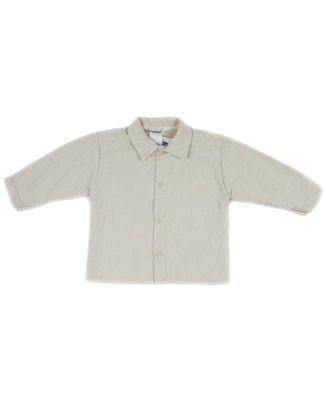 12m: Alphabet Beige L/S Woven Button Up Shirt