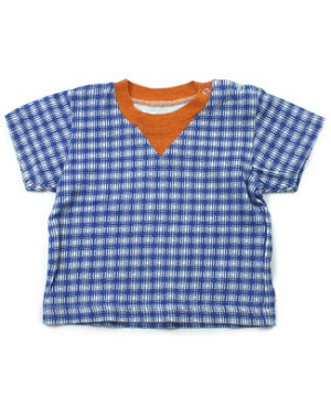 : Portofino Blue Plaid S/S Tee