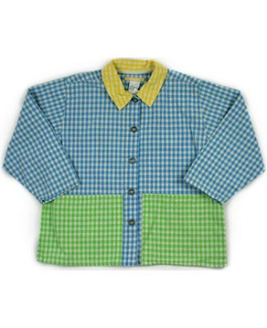 5y: Miss Petit Boy L/S Multicolor Checker Shirt