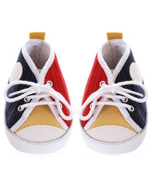 R: Confetti Red, Blue, Yellow And White Baseball Shoes