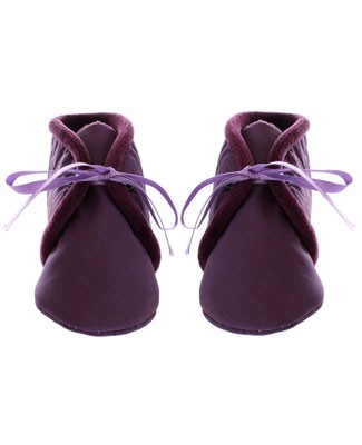 R: Confetti Purple Sateen Booties
