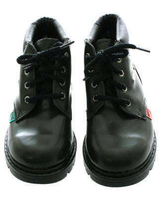 R: Kickers Green Patent Leather Boots