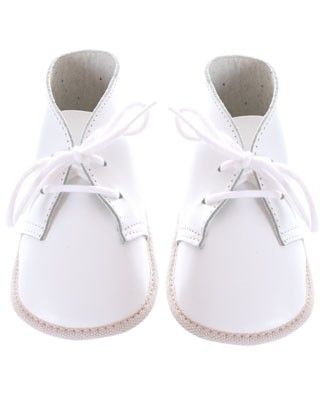 R: Maria Francesca White Soft Leather Booties