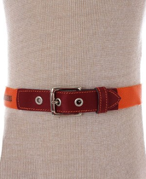 R: Contre Vents Et Marees Orange And Burgundy Belt