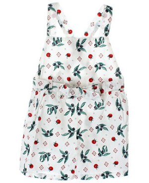 R: Petit Bateau White Romper With Olive Branches And Tomatoes