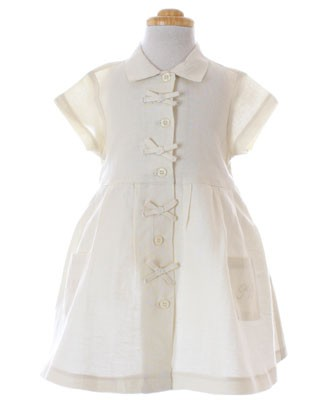 R: Petit Bateau Cream Dress With Bows