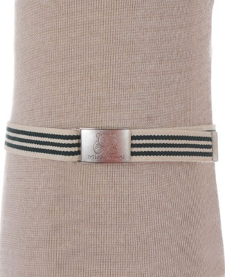 R: Miniman Green And Cream Striped Belt