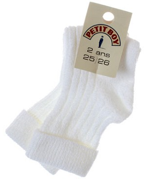 R:  Petit Boy White Socks