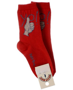 R:  Petit Boy Red Socks