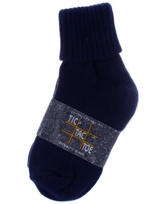 R: Tic Tac Toe Navy Socks