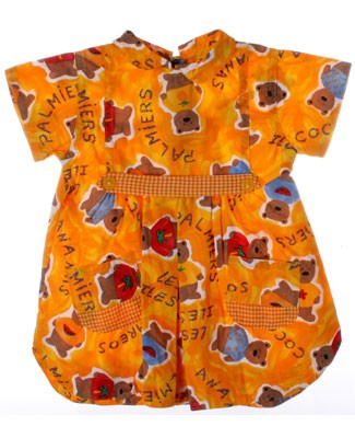 R: Clayeux Yellow Bear Dress