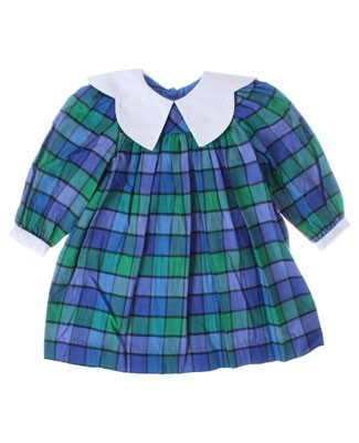 R: Baby Cary Blue And Green Plaid Dress