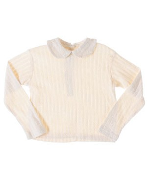 R: Cate Sud Cream L/S Top With Collar