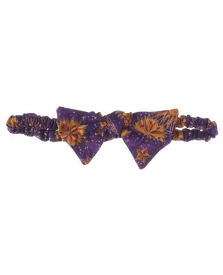 R: Wee Clancy Purple Moon Print Headband