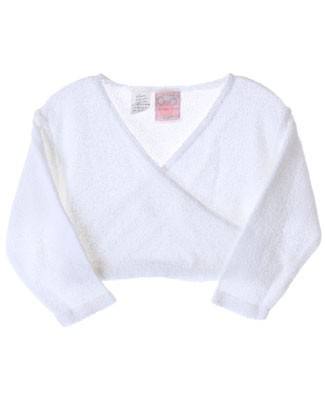 R: Petit Boy *Amour* White Cross Front Knit Cardigan