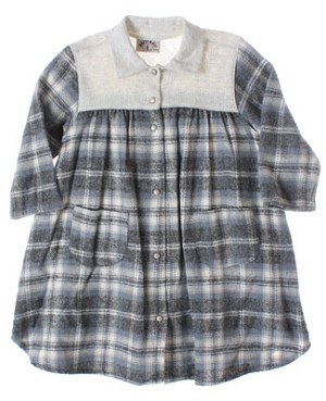 R: Petit Boy L/S Plaid Flannel Dress With Pockets