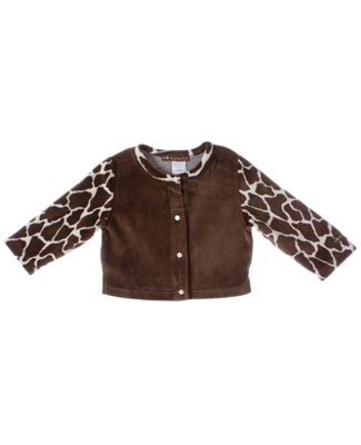R: Miss Petit Boy Brown Giraffe Cardigan