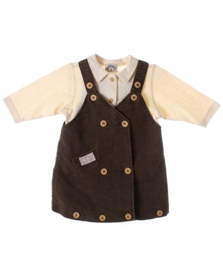 R: Miss Petit Boy Brown Jumper With Cream L/S Shirt