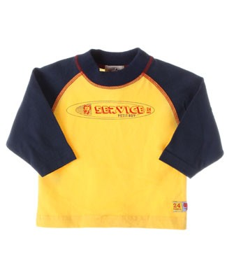 R: Petit Boy *24 Hours Service* L/S Navy And Yellow Shirt