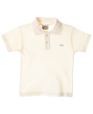 R: Petit Boy Cream S/S Polo Shirt